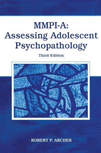 9780805851878: MMPI-A: Assessing Adolescent Psychopathology