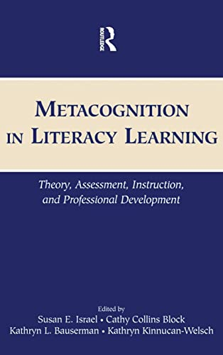 9780805852295: Metacognition in Literacy Learning: Theory, Assessment, Instruction, and Professional Development