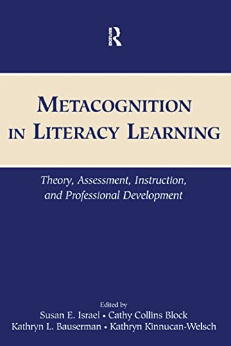 9780805852301: Metacognition in Literacy Learning: Theory, Assessment, Instruction, and Professional Development