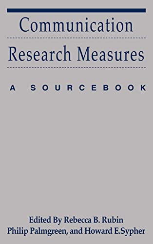 9780805852431: Communication Research Measures: A Sourcebook (Routledge Communication Series)