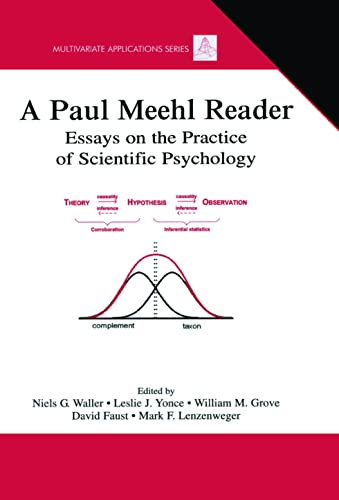 9780805852509: A Paul Meehl Reader: Essays on the Practice of Scientific Psychology (Multivariate Applications Series)
