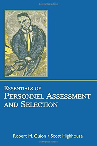 9780805852820: Essentials of Personnel Assessment and Selection