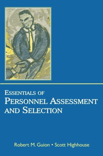 9780805852837: Essentials of Personnel Assessment And Selection