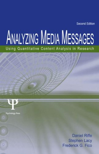 9780805852974: Analyzing Media Messages: Using Quantitative Content Analysis in Research (Communication)