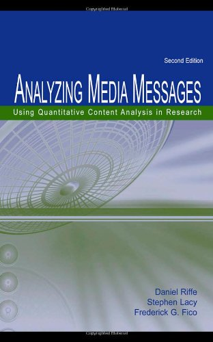 9780805852981: Analyzing Media Messages: Using Quantitative Content Analysis in Research (Communication)
