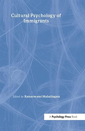 9780805853148: Cultural Psychology of Immigrants