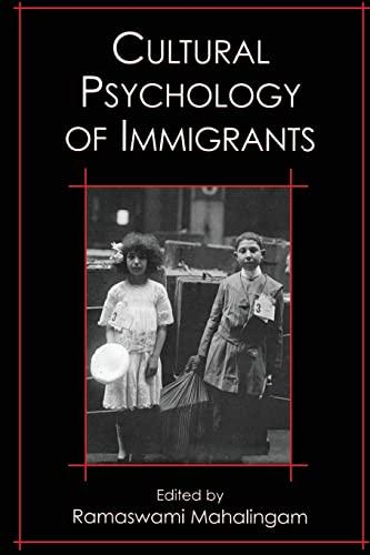 9780805853155: Cultural Psychology of Immigrants