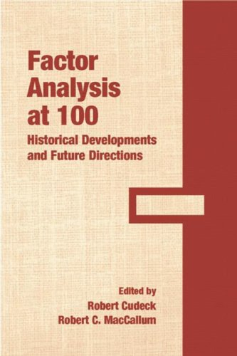 9780805853476: Factor Analysis at 100: Historical Developments and Future Directions