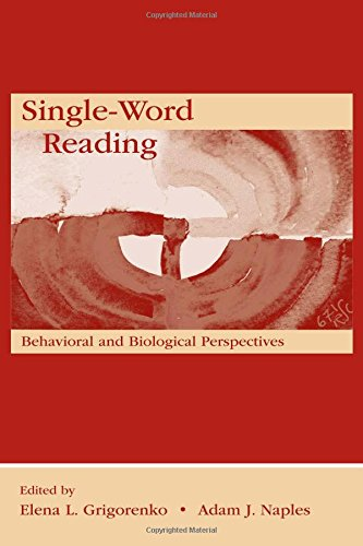 9780805853506: Single-Word Reading: Behavioral and Biological Perspectives (New Directions in Communication Disorders Research)