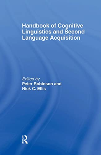9780805853513: Handbook of Cognitive Linguistics and Second Language Acquisition