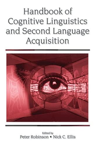 9780805853520: Handbook of Cognitive Linguistics and Second Language Acquisition