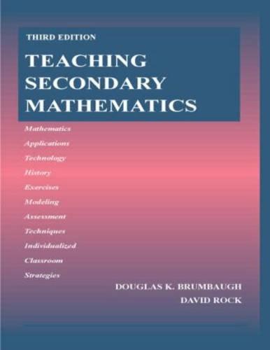 9780805854718: Teaching Secondary Mathematics