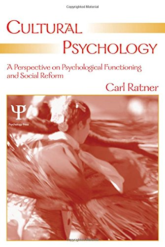9780805854770: Cultural Psychology: A Perspective on Psychological Functioning and Social Reform