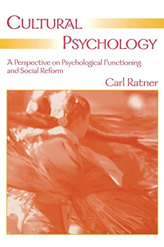 9780805854787: Cultural Psychology: A Perspective on Psychological Functioning and Social Reform