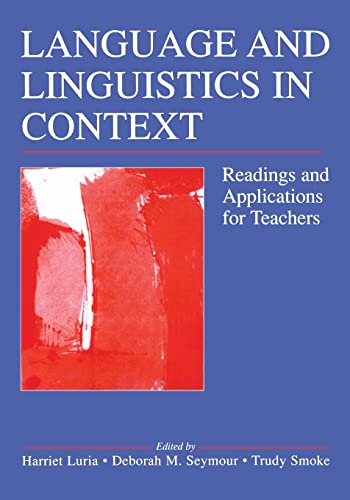 9780805855005: Language and Linguistics in Context: Readings and Applications for Teachers