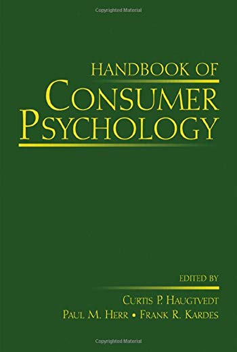 9780805856033: Handbook of Consumer Psychology (Marketing and Consumer Psychology)