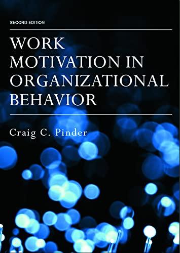 9780805856040: Work Motivation in Organizational Behavior, Second Edition