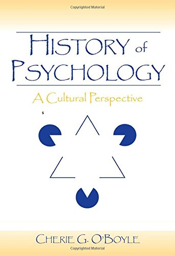 9780805856095: History of Psychology: A Cultural Perspective