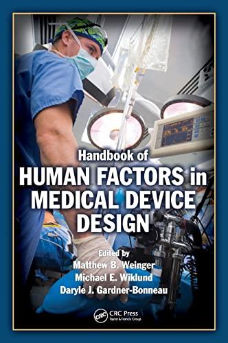 9780805856279: Handbook of Human Factors in Medical Device Design