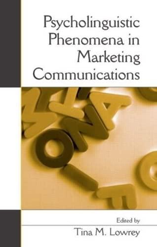 9780805856903: Psycholinguistic Phenomena in Marketing Communications