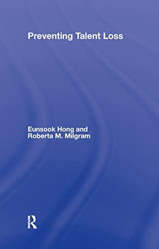 9780805857122: Preventing Talent Loss