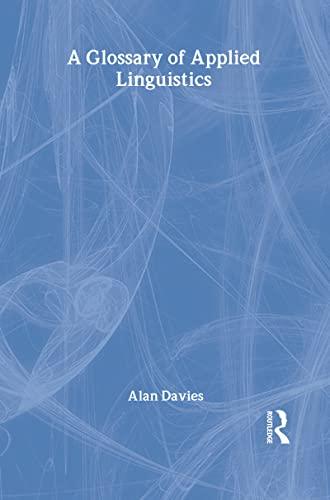 9780805857283: A Glossary of Applied Linguistics