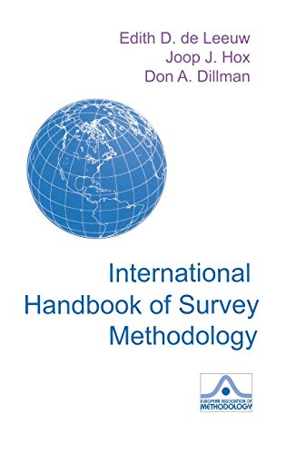 9780805857528: International Handbook of Survey Methodology (European Association of Methodology Series)