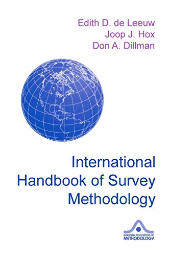 9780805857535: International Handbook of Survey Methodology (European Association of Methodology Series)