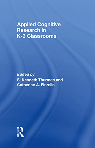 9780805858211: Applied Cognitive Research in K-3 Classrooms