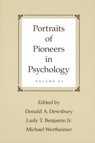 9780805859300: Portraits of Pioneers in Psychology: Volume VI