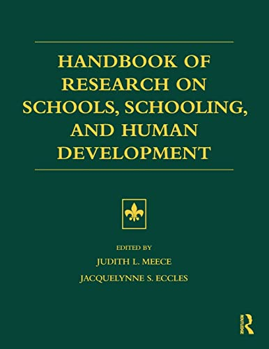 Handbook of Research on Schools, Schooling and Human Development: Routledge