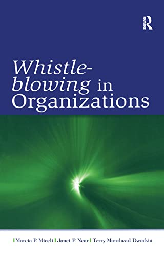 9780805859881: Whistle-Blowing in Organizations (LEA's Organization and Management Series)