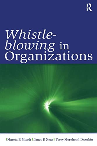 9780805859898: Whistle-Blowing in Organizations (Series in Organization and Management)