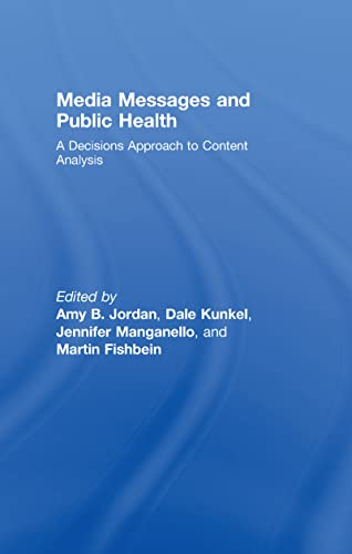 9780805860245: Media Messages and Public Health: A Decisions Approach to Content Analysis (Communication (Routledge Hardcover))