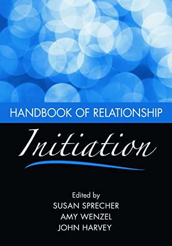 9780805861594: Handbook of Relationship Initiation