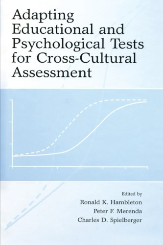 9780805861761: Adapting Educational and Psychological Tests for Cross-Cultural Assessment