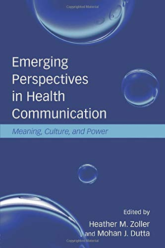 9780805861969: Emerging Perspectives in Health Communication: Meaning, Culture, and Power