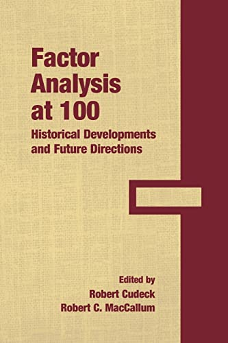 9780805862126: Factor Analysis at 100: Historical Developments and Future Directions
