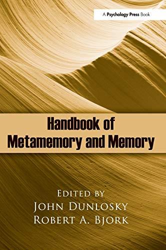 9780805862140: Handbook of Metamemory and Memory