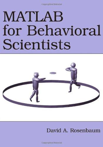 9780805863192: MATLAB for Behavioral Scientists