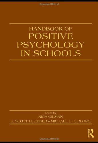 9780805863628: Handbook of Positive Psychology in Schools (Educational Psychology Handbook)