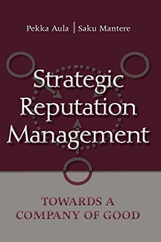 9780805864267: Strategic Reputation Management: Towards A Company of Good (Lea's Communication)