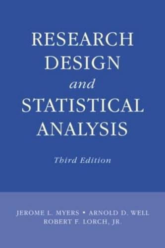 9780805864311: Research Design and Statistical Analysis: Third Edition