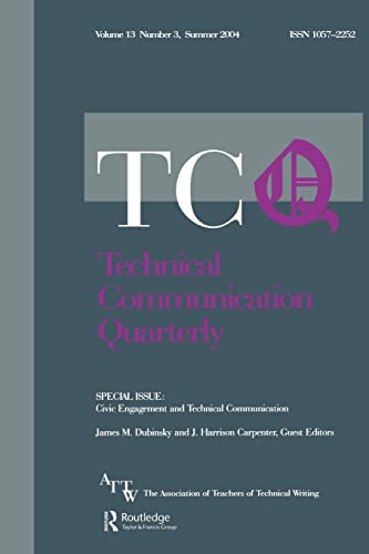 9780805895377: Civic Engagement and Technical Communication: A Special Issue of Technical Communication Quarterly (Volume 13)