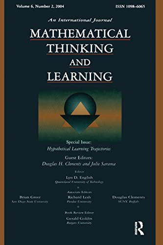 9780805895445: Hypothetical Learning Trajectories: A Special Issue of Mathematical Thinking and Learning