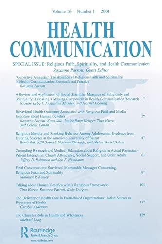 9780805895636: Religious Faith, Spirituality, and Health Communication: A Special Issue of Health Communication