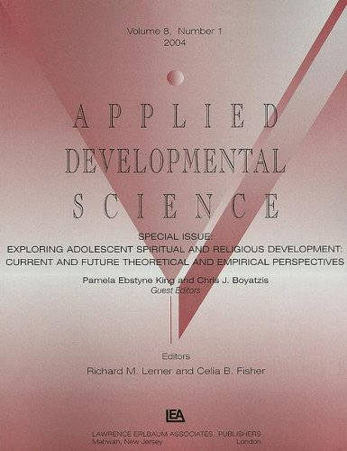 9780805895667: EXPLORING ADOLESCENT ADS V8#1 a'' (Applied Developmental Science)