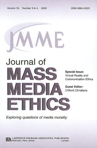 9780805895681: Virtual Reality and Communication Ethics: A Special Double Issue of the Journal of Mass Media Ethics