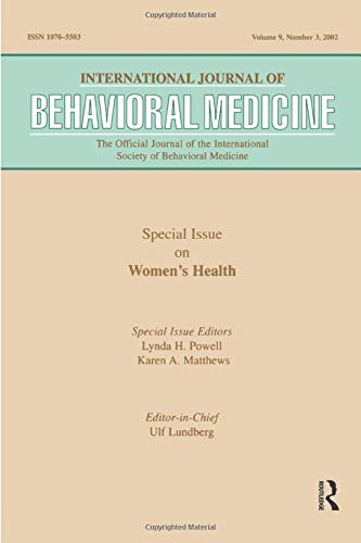 9780805896473: -Special Issue on Women's Health: A Special Issue of the International Journal of Behavioral Medicine