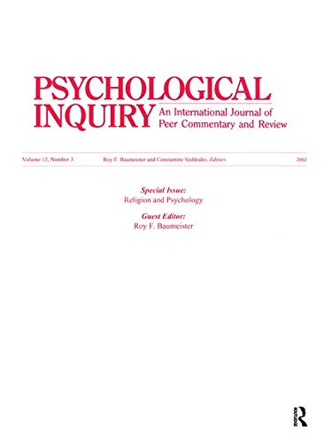 9780805896572: Religion and Psychology: A Special Issue of Psychological Inquiry